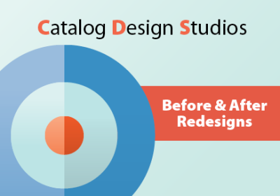 Before and after catalog redesigns